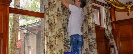 Химчистка гобеленовых штор