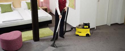Химчистка ковролина в гостиничных номерах